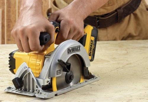 why are most cordless circular saws left handed