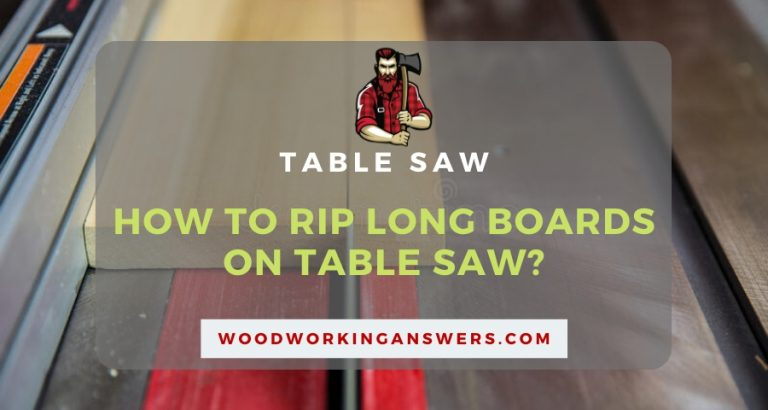 How to rip long boards on Table Saw